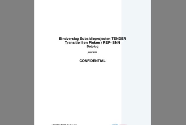 Eindverslag Subsidieprojecten TENDER Transitie II en Pieken / REP- SNN